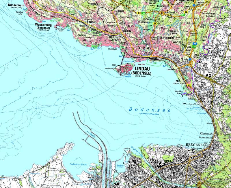 Treibholz bodensee wasserwirtschaftsamt kempten for Bodensee karte