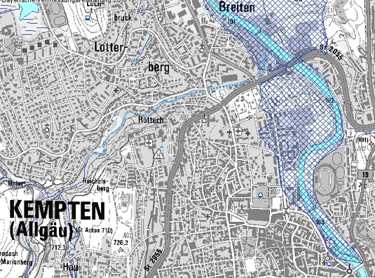 Uberschwemmungsgebiete Wasserwirtschaftsamt Kempten